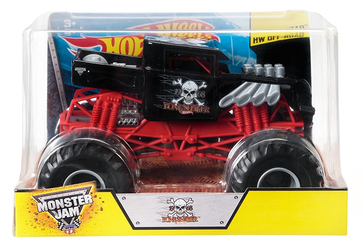 Amazon Com Hot Wheels Monster Jam Scale Bone Shaker Vehicle