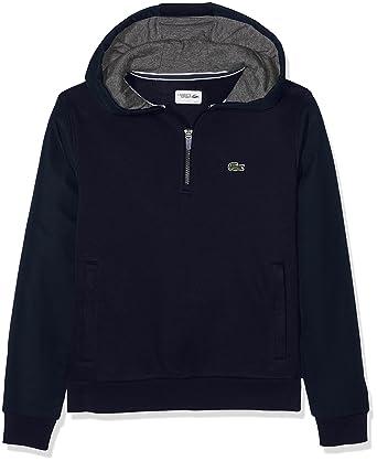 Lacoste Sport SJ8839, Sweat-Shirt Garçon, Bleu (Marine Bitume), 14 Ans  (Taille Fabricant   14A)  Amazon.fr  Vêtements et accessoires d0863f17f5d5