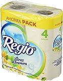 Regio 21300 Papel Higiénico Aires de Frescura, Paquete con 4 rollos