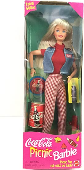 1997 Mattel Barbie Coca Cola After The Walk Mini Coca Cola Drink Accessory