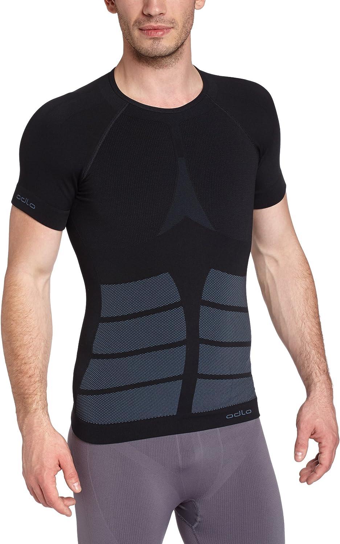 Odlo Herren Shirt Short Sleeve Crew Neck Evolution Warm