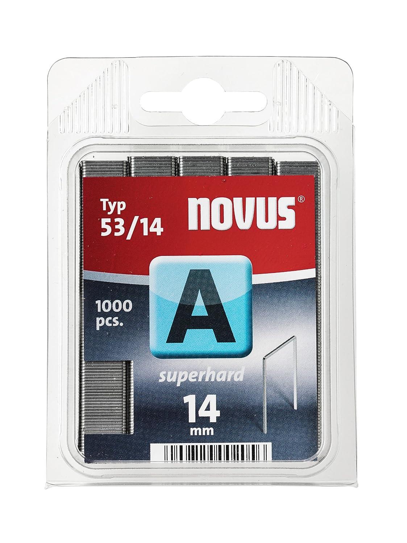 Novus 042-0359 A 53 1000 Grapas del Tipo 53//14 ultraduro un alambre de alt/ísima solidez y estabilidad de la grapa Grapa de alambre finoultraduro con 14 mm longitud
