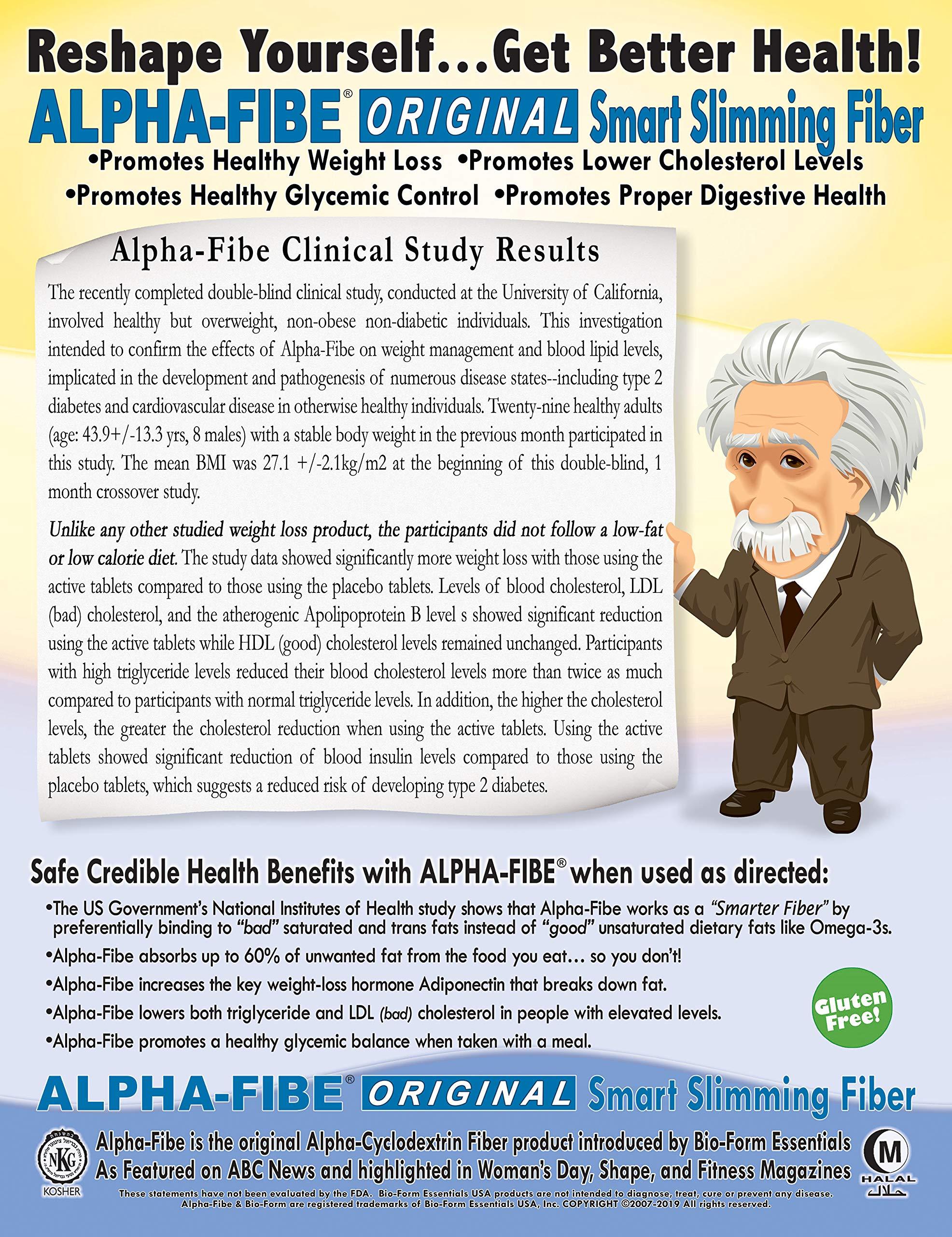 Alpha-Fibe Original Smart Weight Loss Slimming Fiber for Men & Women (180 Fast-Acting Capsules) by Bio-Form Essentials