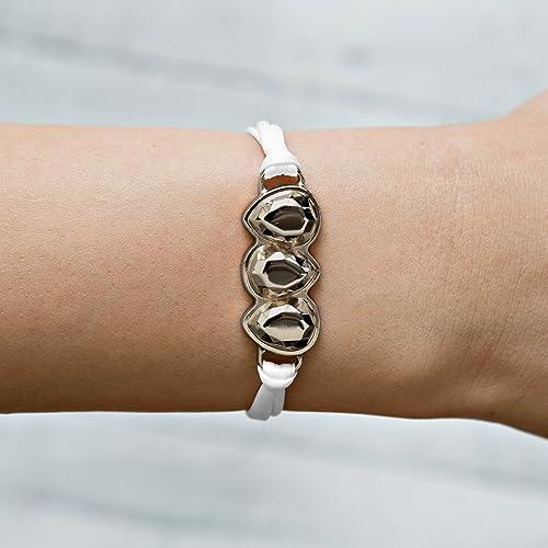white bracelet stretch bracelets for women wedding bracelet bridal shower gift wedding