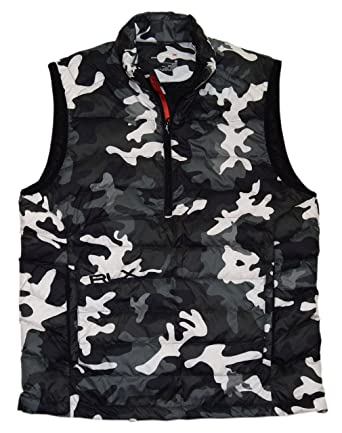 19dec3c4cfc15 Ralph Lauren Polo RLX Men Full Zip Down Puffer Jacket Vest Camo ...