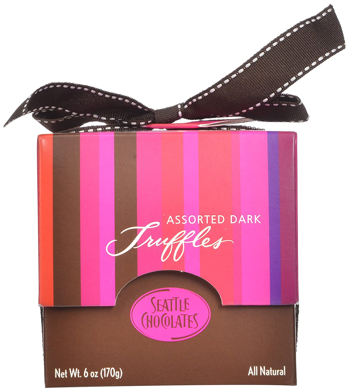 Amazon.com : Seattle Chocolates Truffles, Extreme Stripe Gift Box ...