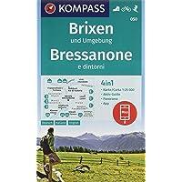 KOMPASS Wanderkarte Brixen und Umgebung, Bressanone e dintorni: 4in1 Wanderkarte 1:25000 mit Panorama und Aktiv Guide inklusive Karte zur offline ... Skitouren. (KOMPASS-Wanderkarten, Band 50)
