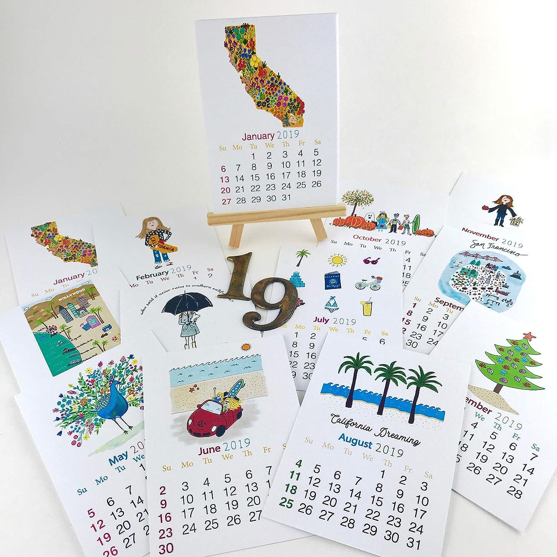 2019 I Love California Desk Calendar
