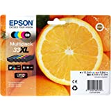 Epson 33 XL Serie Arancia Cartuccia Originale, Multipack, XL, 5 Colori