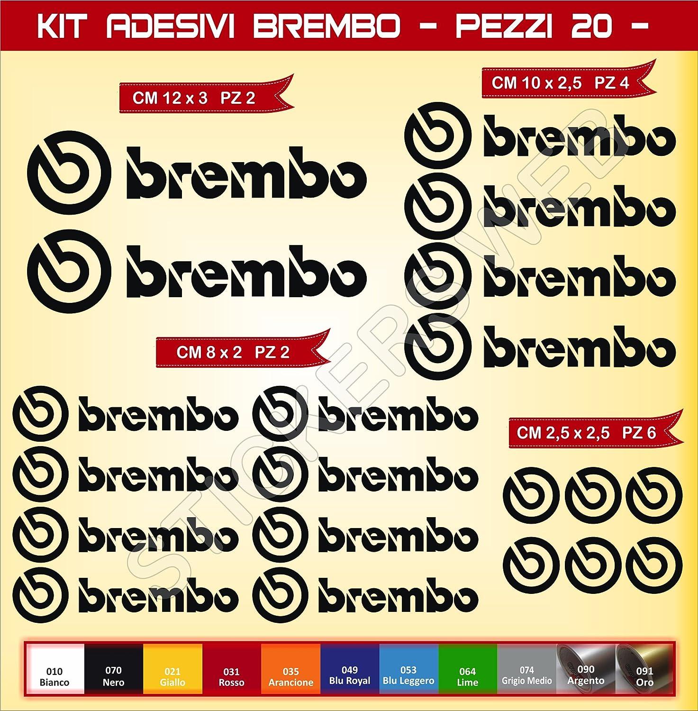 Motorrad 0576 Pimastickerslab Aufkleber Stickers BREMBO Cod