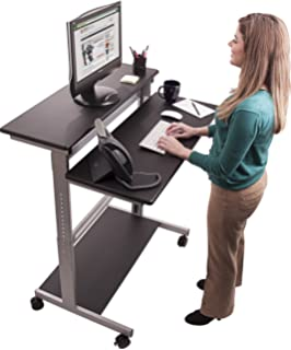 Amazoncom Crank Adjustable Sit to Stand Up Desk with Heavy Duty