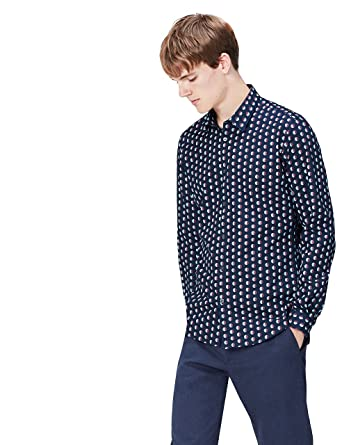 huge selection of f13fa 2cc65 Marchio Amazon - find. Camicia a Pois Slim Fit Uomo: Amazon ...