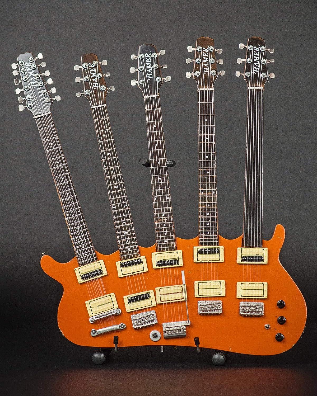 Rick NIELSEN - Réplica de guitarra de monstruo naranja con cinco ...