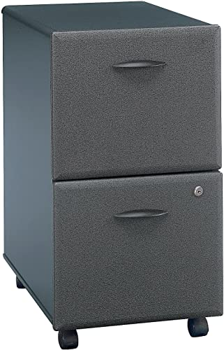 Bush Business Furniture Series A 2 Drawer Mobile File Cabinet, Slate