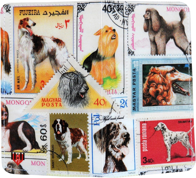 Dogs Postage Stamp Gift Card Holder /& Wallet