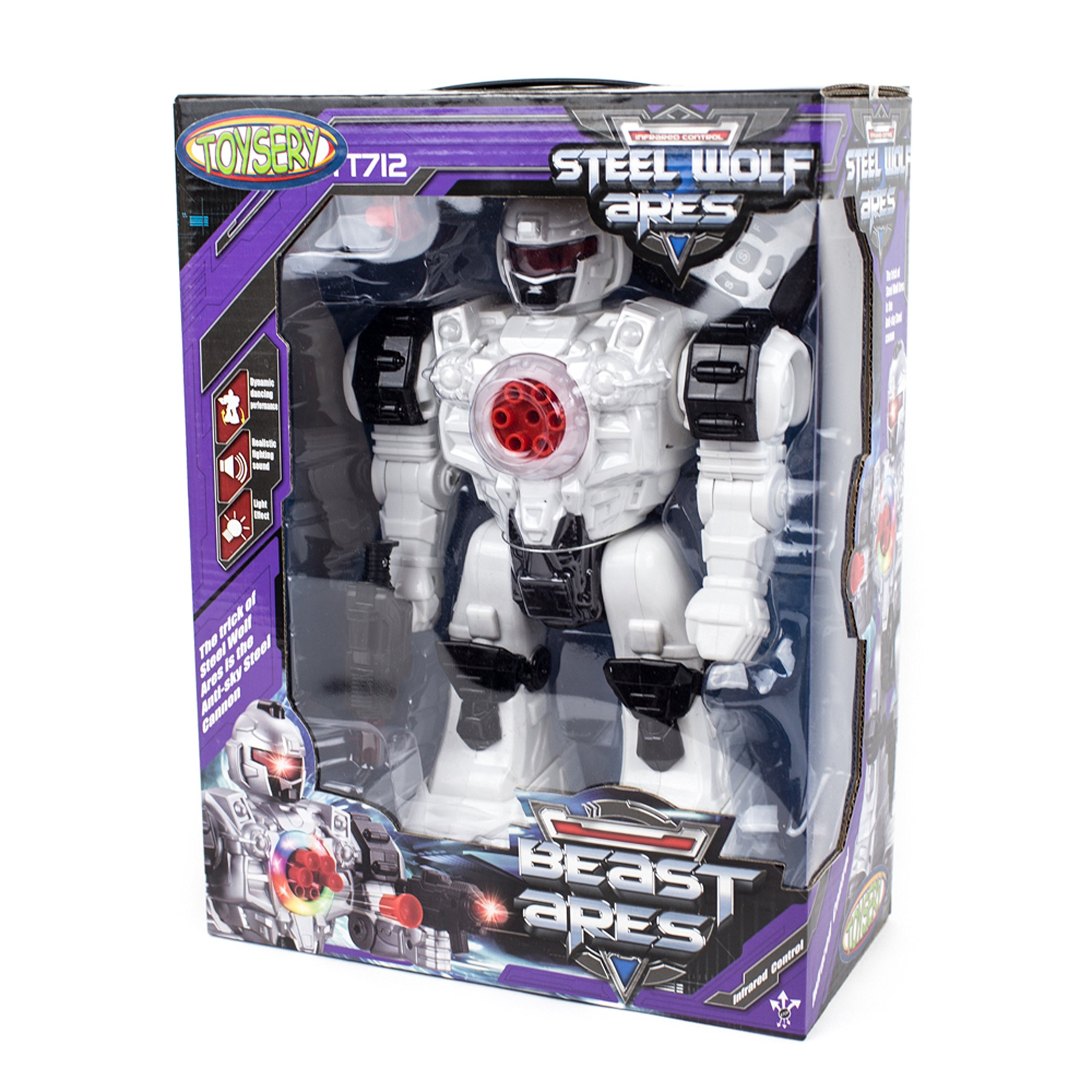 Toysery Remote Control Robot Police Toy for Kids Boys Girls with Flashing Lights Action Toy for Boys by Toysery (Image #5)