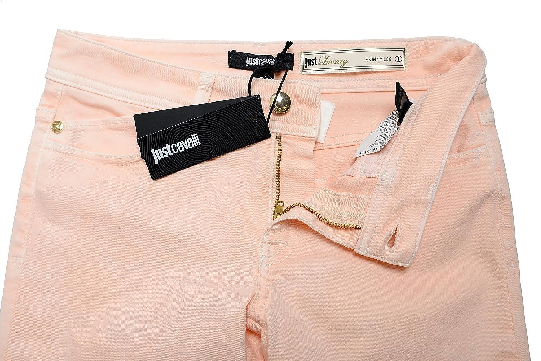 "Just Cavalli Women's ""Just Luxury"" Light Peach Skinny Leg Jeans US 26 IT 40"