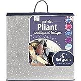 Babysom - Matelas Pliant 60x120x7cm - Idéal pour lit d'appoint et parapluie - Déhoussable - Anti acarien
