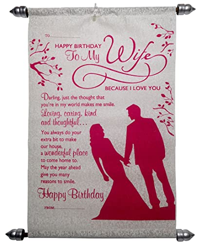 Birthday Gifts For Sweet Wife Happy Birthday Scroll Greeting Card