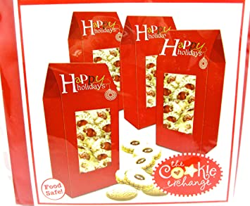 christmas cookie boxescardboardfood safe 4 cookie boxes red tall tent