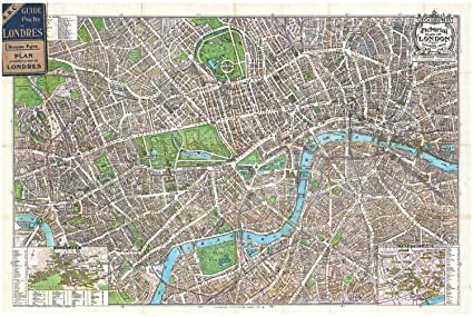 Map Of Downtown London England.Amazon Com Historic Pictoric Historical 1924 Geographia Pictorial
