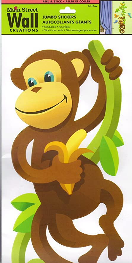 Lil Monkey Climbing Vine Wall Decal Decor - Nursery Wall Decor ...