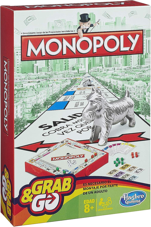 Hasbro Gaming Monopoly Juego de Viaje, versión española (B1002105 ...