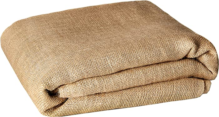 Burlapper Burlap Garden Fabric (40 Inch x 30 Feet, Natural)