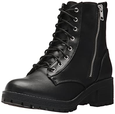 16337097487 Fergalicious Women s Rocker Combat Boot Black 6 M US