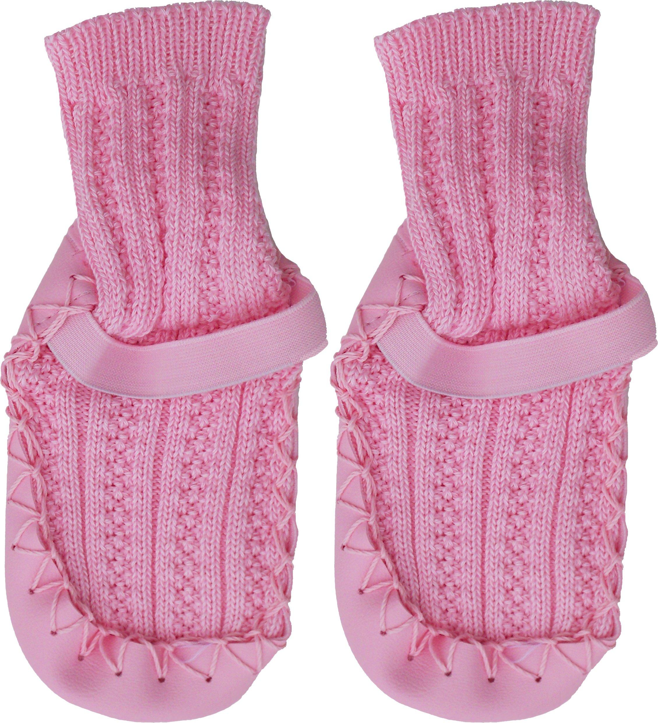 Konfetti Cable Knit Swedish Moccasin Slipper Socks by Konfetti (Image #2)