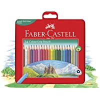 Faber-Castell 24 Colour Grip Pencils Gift Tin (16-116256)