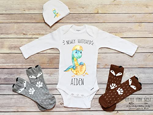 Personalized Fox Onesies /& Socks Baby Shower Gift Set Baby Gifts Newborn Infant