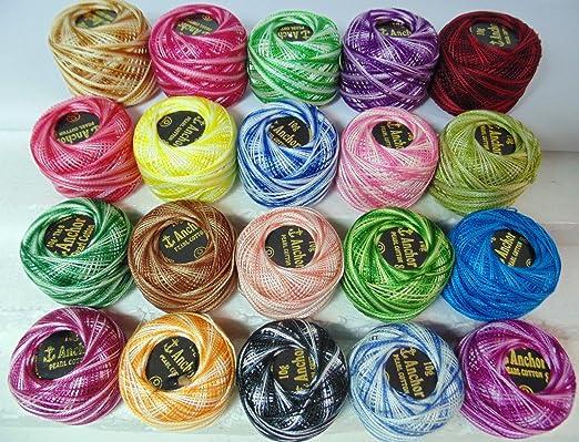 20 ovillos de hilo de algodón para ganchillo de Anchor, 20 ...