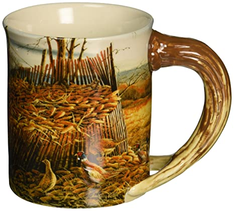 8abc9beaf73 Image Unavailable. Image not available for. Color: Deer & Pheasant Sculpted  Mug ...