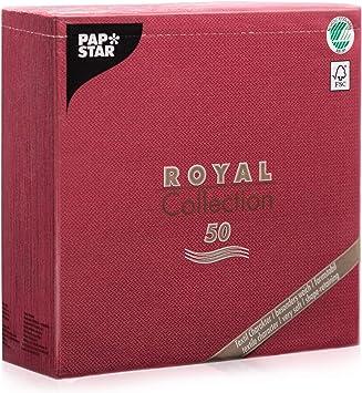 250 weisse Premium Servietten ROYAL Collection 1//4-Falz 48 cm Party Stoffoptik