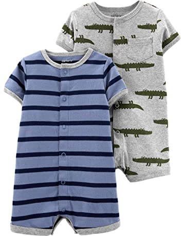 127b2de2860 ... Cotton One-Piece Coverall · Carter s Baby Boys  2-Pack Snap Up Romper