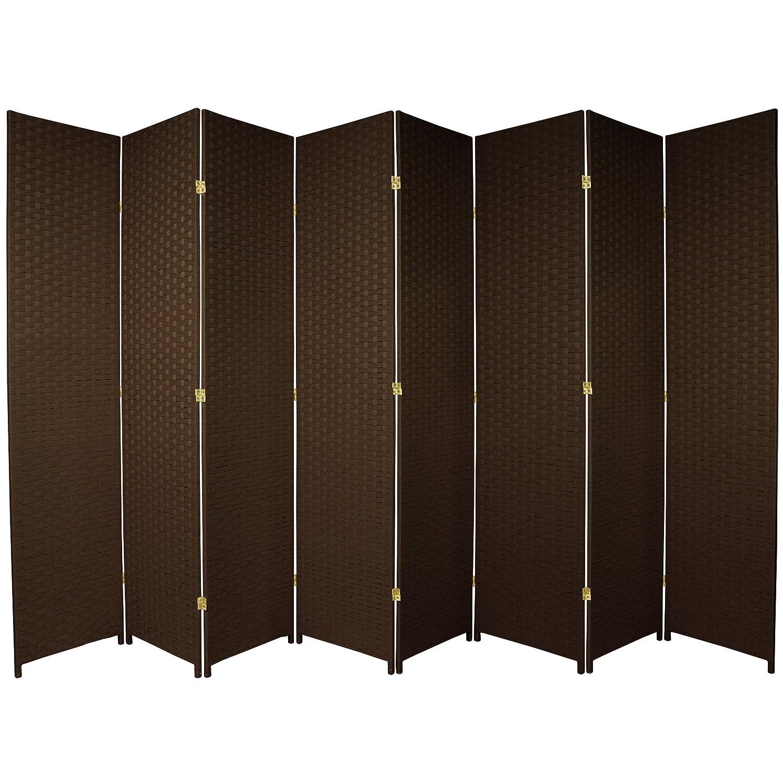 Amazoncom Oriental Furniture 7 Ft Tall Woven Fiber Room Divider