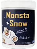 Monsta Snow Instant Snow Powder - Great for Cloud Slime, Christmas Artificial Snow Decoration, Makes 12 Litres of Fake Snow - Lasts for Days