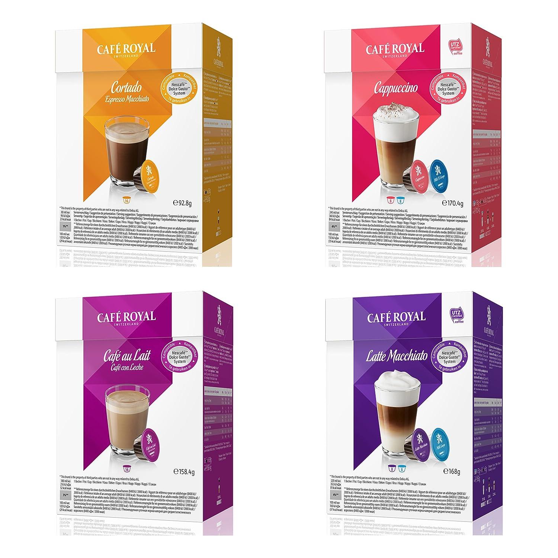 Café Royal crema Set, café, cápsulas de café, café con leche, cacao, 64 Cápsulas: Amazon.es: Hogar