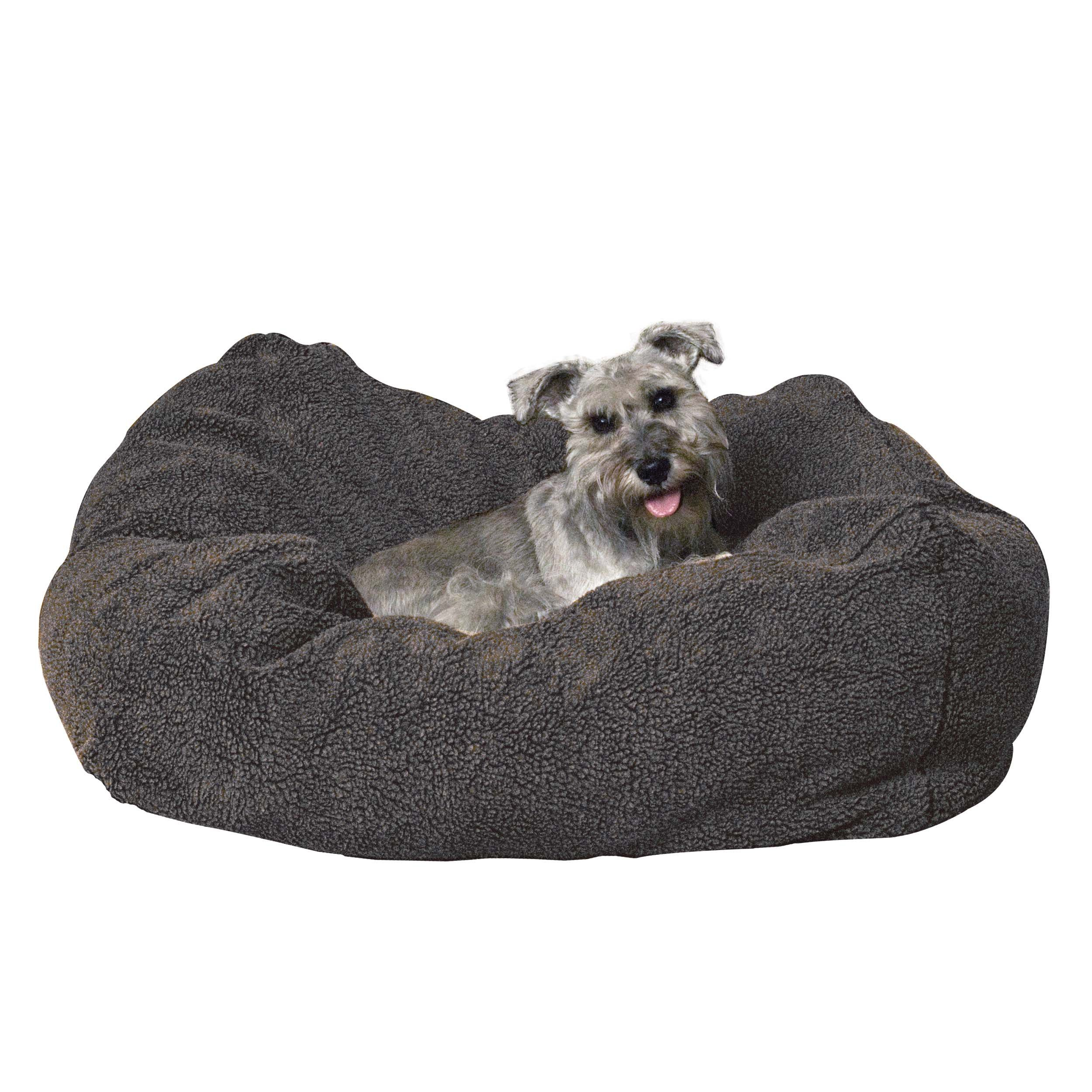K&H Pet Products Cuddle Cube Pet Bed Small Gray 24'' x 24''