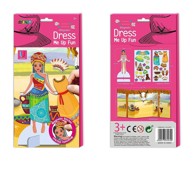 Avenir–Stickers magnétiques Indes Princess Dress Me Up Fun, Couleur coloré (4) Couleur coloré (4) CH1472