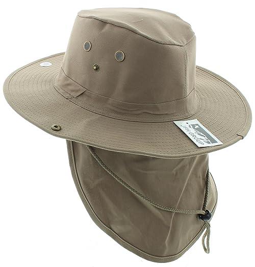 13efefcb06b36 JFH Wide Brim Bora Booney Outdoor Safari Summer Hat w Neck Flap   Sun  Protection