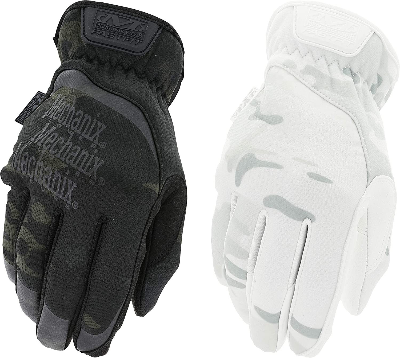 Mechanix Wear Fastfit Gloves-Work-Duty-Utility Gloves-Multicam or Covert Black