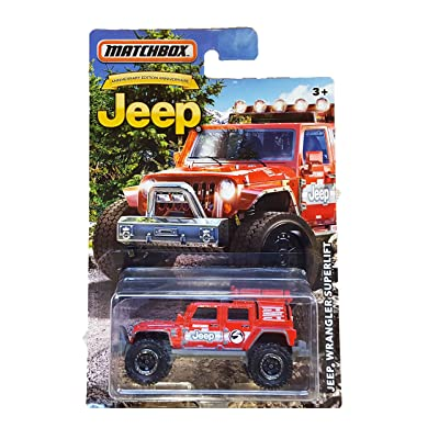 MATCHBOX LIMITED EDITION JEEP ANNIVERSARY RED JEEP WRANGLER SUPERLIFT DIE-CAST: Toys & Games