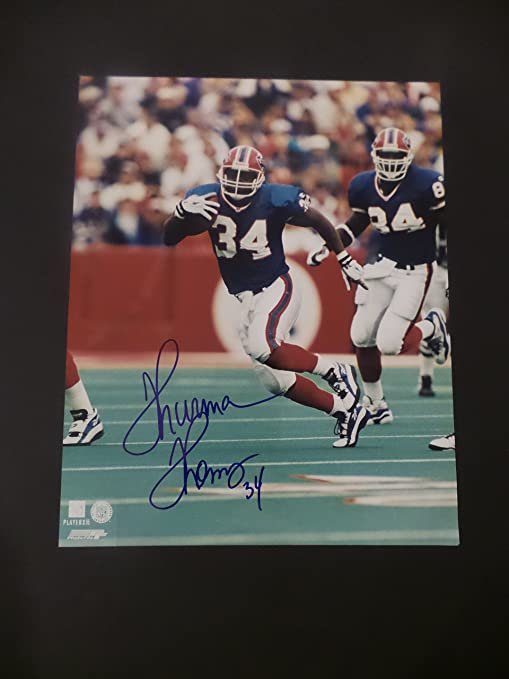 3b3548f04 Thurman Thomas Signed Buffalo Bills Autographed 8x10 Photograph at ...