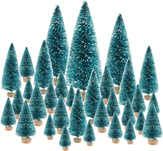 KUUQA Christmas Trees, Plastic, 66 Pack