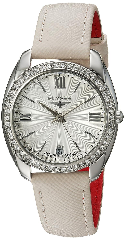 ELYSEE Damenuhr weiß-silber 28600