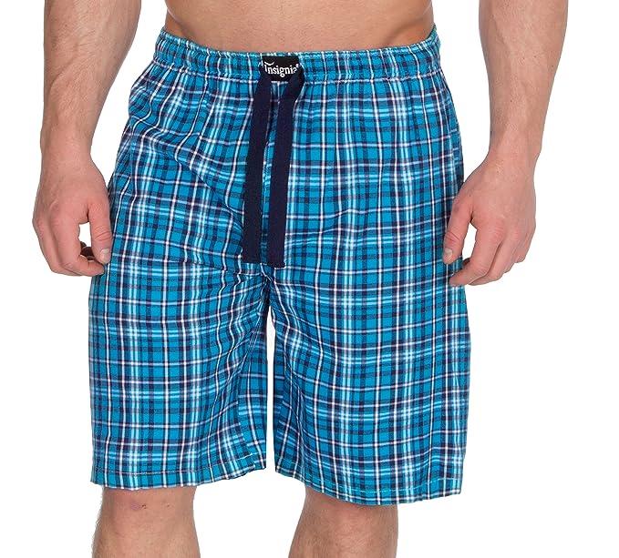 Insignia hombre de Cuadros Pantalones de andar por casa Pantalones Pijama Pantalones Sarga De Algodón t1IoCwG71