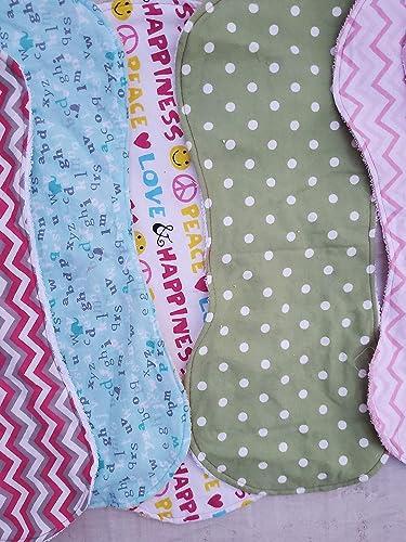Burp Cloths  Baby Girl Burp Cloths  Burp Rags  Handmade Burp Cloths