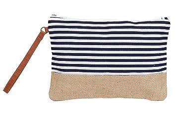 Amazon.com: Bolsa de algodón de lona de dos tonos para ...